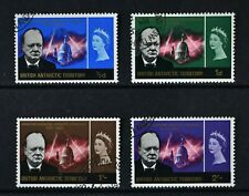 B. ANTARCTIC TERRITORY, QEII, 1966, set of 4 Churchill stamps, used, Cat £15.