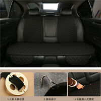 Black Breathable Flax Rear Seat Cover Protector Cushion Pad for Auto Truck Suv
