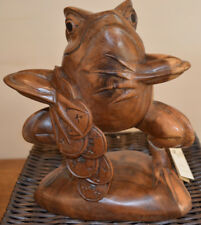 Frog - Lucky Money Frog 20cm Hand Carved Statue-REDUCED