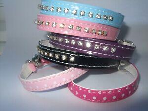 Cat collar metal buckle  ,diamante rhinestone, crystal safety elastic bell bling