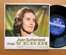 "SWL 8506 Joan Sutherland Sings Verdi - Decca 10"" ED1 Wide Band Stereo NM/VG"