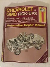 Haynes Chevrolet & GMC Pick Ups Automotive Repair Manual 1967 - 1987 420 Book