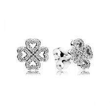 Authentic Pandora 925 Silver Petals of Love Stud Earrings Clear CZ #290626CZ