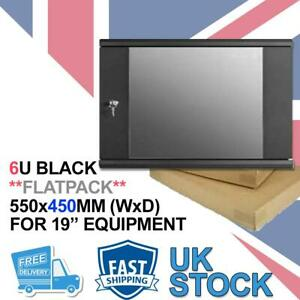 6U 450 Flat Pack Data Cabinet Wall Rack for Patch Panel, Switch,PDU, Networking