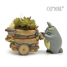 Studio Ghibli My Neighbor Totoro Cart Anime Figure Flower Pot Bonsai Statue Toy