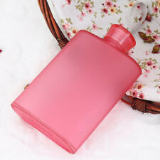 Flat Portable Plastic Water Bottle Sports Square Drinking Bottle Red 400ml