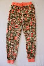 NEW Girls Pants Medium 7 - 8 Peach Green Camo Navajo Print Soft Stretch Bottoms