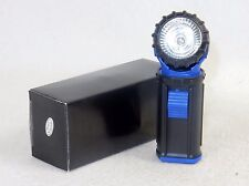 360 Degree Swivel Head Flashlight, Blue, Single Bulb, Clip-on Hands Free, #FL104