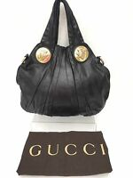 Genuine Gucci Hysteria Butter Soft Black Leather Bag & Dust Bag