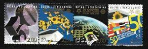 Europa Flags Maps Globe MNH Strip of 4 Stamps Bosnia & Herzegovina (Croat) #151