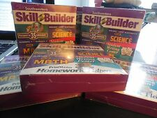 NEW HOMEWORK HELPER 13-17 YRS-SKILL BUILDING DVD CD ROM-MATH, LANGUAGES, ETC.