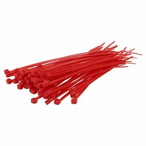 100 Piece Ties Red 3 15/16x0 3/32in Industrial Quality Polyamide UV Resistant