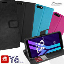 Wallet Flip Card Slot Stand Case Cover For Huawei Y6 2018 / Y6 2017