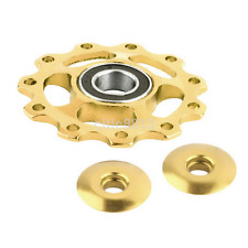 11 Tooth Bike Bearing Jockey Wheel Rear Derailleur Pulleys Porose Aluminum Alloy