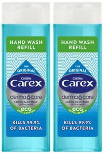 2 x CAREX ORIGINAL LIQUID HAND WASH REFILL TOP BOTTLE 250ml