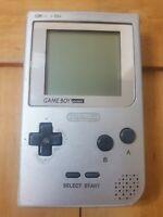 Nintendo Game Boy Pocket Silver Platinum System Console Model MGB-001 Tested