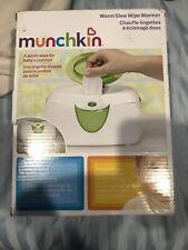Munchkin Green White Warm Glow Flip Top Soft Night Light Baby Wipe Warmer O Box