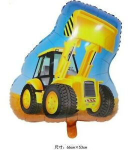 Construction Truck Digger Bulldozer Farm Tractor Foil Balloon Boy Birthday Party