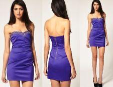 Lipsy Purple Silver Jewelled DR05463 Dress UK Size 10 (EU 38)