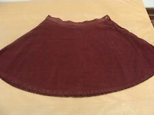 American Apparel Burgundy Corduroy Circle Skirt Size S