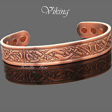 VIKING Bracelet Men Copper Magnetic Bracelet Joint Muscle Pain Relief Therapy-VC