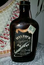 1940s Vintage antique Hildick Applejack brandy 86 proof glass bottle Lyons Ny