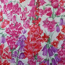 """42 cm x 1.37 m LIBERTY PRINTS Lawn """"battu"""" robe de coton artisanat tissu rouge rose"""