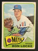 Ron Locke Mets signed 1965 Topps baseball card #511 Auto Autograph