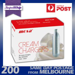 MOSA CREAM BULBS - 10 PACK X 20 (200 CHARGERS) - PURE NITROUS OXIDE N2O