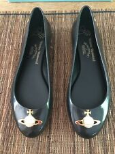 Vivienne Westwood Melissa Orb shoes in Black size uk 8 NEW WITH BOX