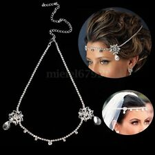 Wedding Bridal Crystal Head Chain Prom Jewelry Headband HeadPiece HairBand Party