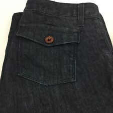 Banana Republic Bell Bottoms Jeans Size 10S High Waist Flip Pockets Dark Wash