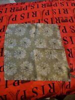 "Ermenegildo zegna Silk Pocket Square 12"" green brown silver flowers hand rolled"
