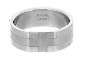 Stainless Steel Ring with Cross Pattern in 8 Sizes R2