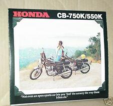 1978 Honda CB750 K and CB550 K Motorcycle Sales Brochure - Literature