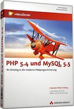video2brain PHP 5.4 und MySQL 5.5 Video-Training, 7 Stunden auf DVD, NEU