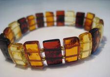Real  Baltic Amber Bracelet  Elastic Stretch