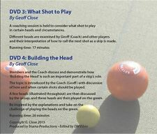 Lawn Bowls Coaching DVDs 2: What Shot to Play & Building the Head 2 DVDs  Zone0