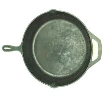 """REDUCED Vintage Lodge No.10 SK Cast Iron 12"""" Skillet Fry Pan USA Needs Some TLC"""