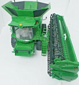 ERTL Big Farm JOHN DEERE S670 Combine Green Truck Sounds/Lights Works 1/16 Scale