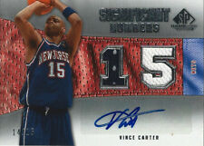 2007-08 Vince Carter NBA SP Game Used SIGNIFICANT NUMBERS AUTO/JERSEY #14/15
