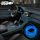 9.8ft Auto Car Interior Atmosphere Wire Strip Light Led Decor Lamp Accessories
