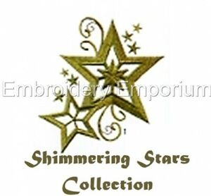 SHIMMERING STARS COLLECTION - MACHINE EMBROIDERY DESIGNS ON CD OR USB
