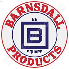 BARNSDALL PRODUCTS 11.75in ROUND METAL SIGN
