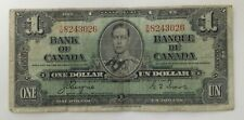 1937 Bank of Canada One Dollar $1 Note - Coyne/Towers - S|M8243026 #CBN301