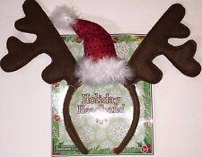 Fantasia Reindeer Santa Sequin Hat Holiday Christmas Headband, Adult One Size