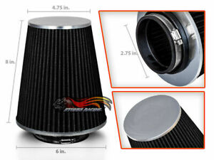 """2.75"""" Cold Air Intake High Flow TRUCK FILTER Universal BLACK For Jeep/Land Rover"""