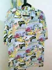 KAHALA CLOTHING OFFICIAL PROGRAM HAWAIIAN SHIRT Men's Large SS Rayon #8401