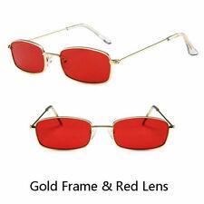 Unisex Vintage Sunglasses Slim Square Frame Shades Sunnies Cool Fashion Glasses