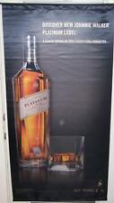 JOHNNIE WALKER PLATINUM LABEL Big Satin Advertising Banner Scotch Whisky Sign